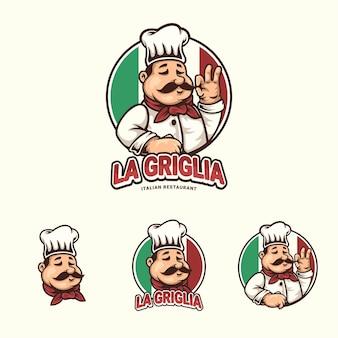 Création de logo mascotte chef coloré