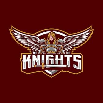 Création de logo de mascotte de chevaliers