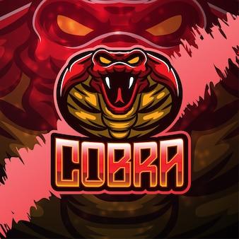 Création de logo de mascotte cobra sport