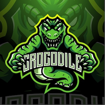 Création de logo de mascotte de crocodile esport