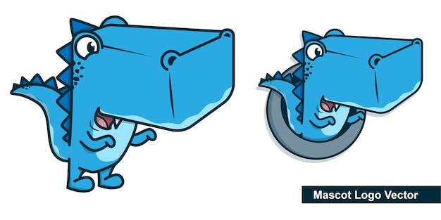 Création de logo de mascotte dino