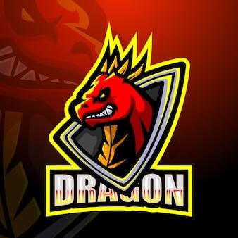 Création de logo de mascotte de dragon