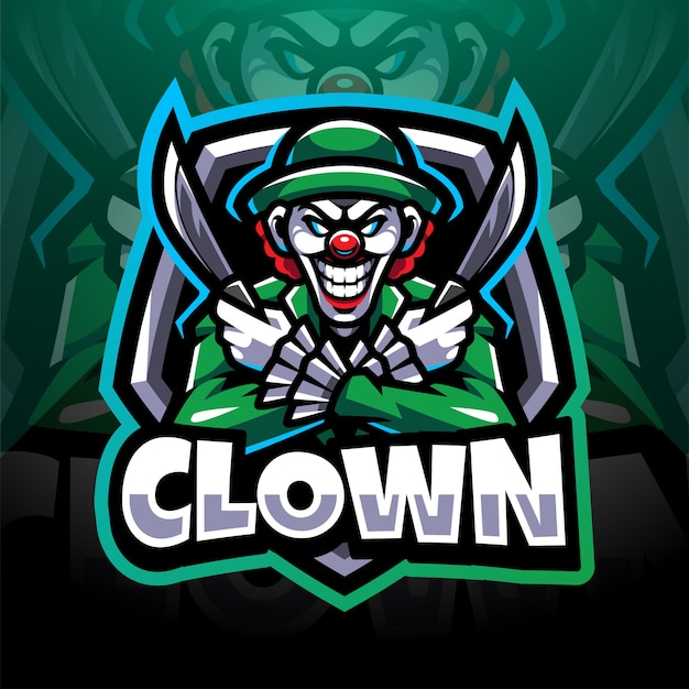 Création de logo de mascotte esport clown