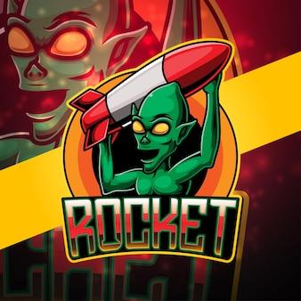 Création de logo de mascotte esport extraterrestre