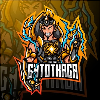 Création de logo de mascotte esport gatotkaca