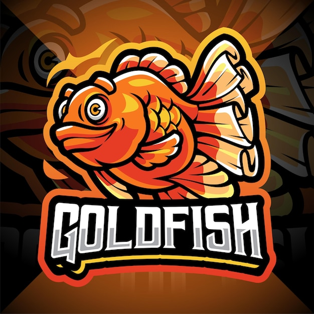Création de logo de mascotte esport goldfish