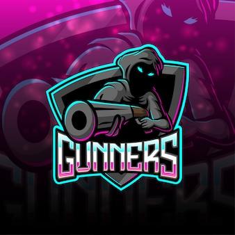 Création de logo de mascotte esport gunners