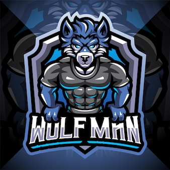 Création de logo de mascotte esport homme loup