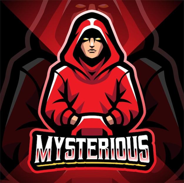 Création de logo de mascotte esport mystérieux