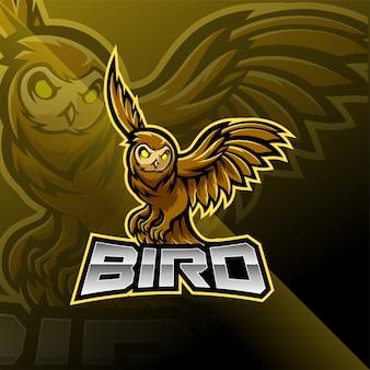 Création de logo de mascotte esport oiseau