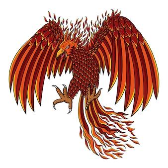 Création de logo de mascotte esport phoenix