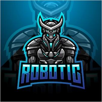 Création de logo de mascotte esport robotique