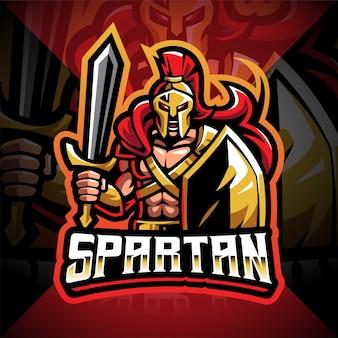 Création de logo de mascotte esport spartiate