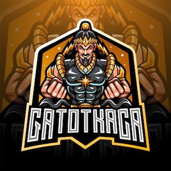 Création de logo de mascotte gatotkaca esport