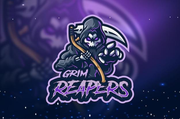 Création de logo de mascotte de grim reapers esport