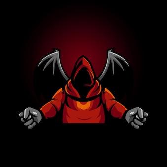 Création de logo de mascotte de guerrier de la faucheuse