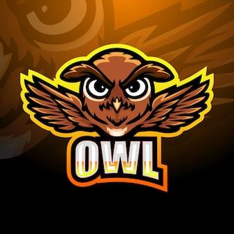 Création de logo de mascotte de hibou