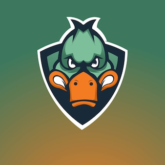Création de logo de mascotte de jeu de canard