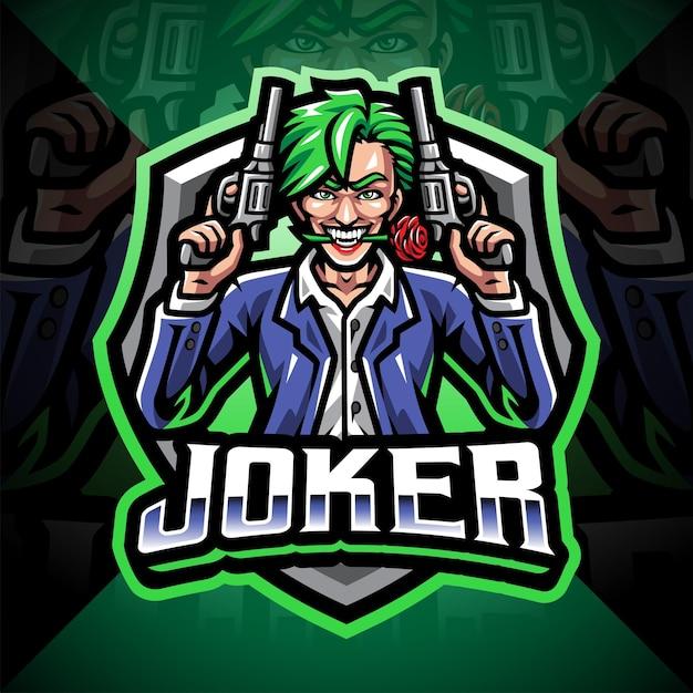 Création de logo de mascotte joker artilleur esport