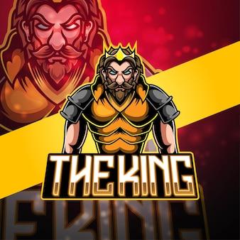 Création De Logo De Mascotte King Esport Vecteur Premium