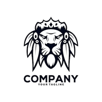 Création de logo de mascotte de lion