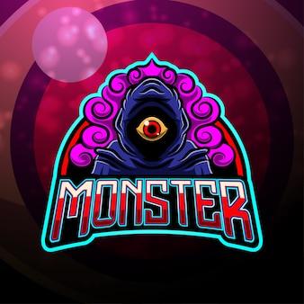 Création de logo de mascotte monster esport