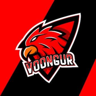 Création de logo de mascotte oiseau garuda