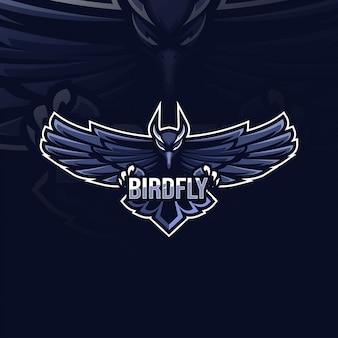 Création de logo de mascotte oiseau mouche