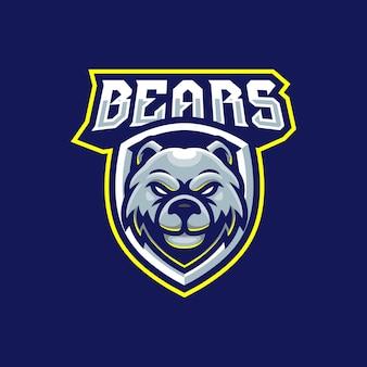 Création de logo mascotte ours