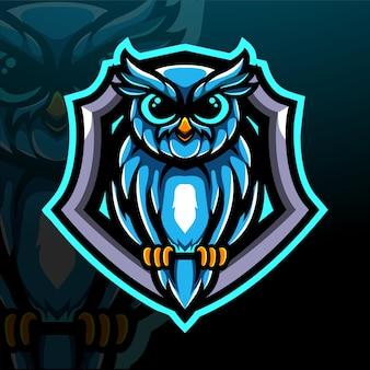 Création de logo de mascotte owl esport