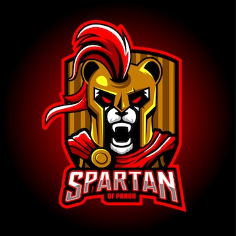 Création de logo de mascotte panda spartan esport