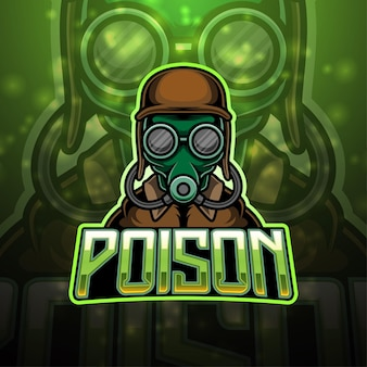 Création de logo de mascotte de poison esport