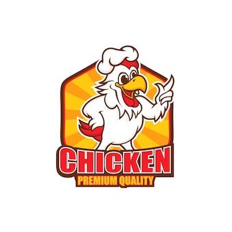 Création de logo de mascotte de poulet