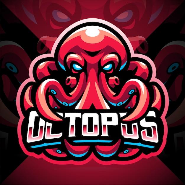 Création de logo de mascotte de poulpe esport