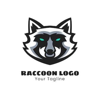 Création de logo de mascotte de raton laveur