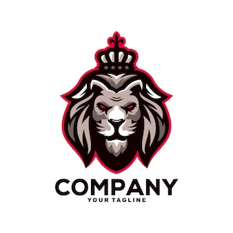 Création de logo de mascotte de roi lion