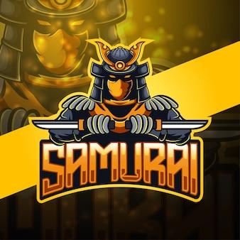 Création de logo de mascotte de samouraï esport