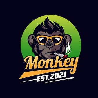 Création de logo de mascotte de singe