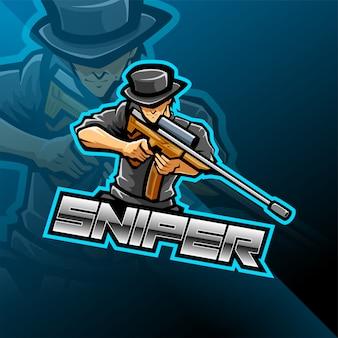 Création de logo de mascotte sniper esport