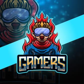 Création de logo de mascotte de sport de joueurs