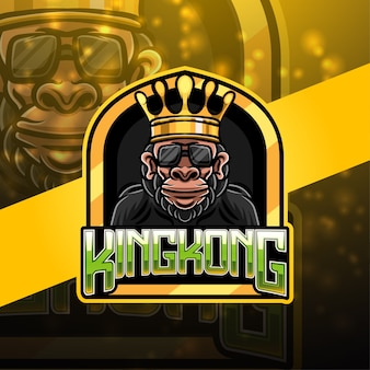 Création de logo de mascotte de sport king kong