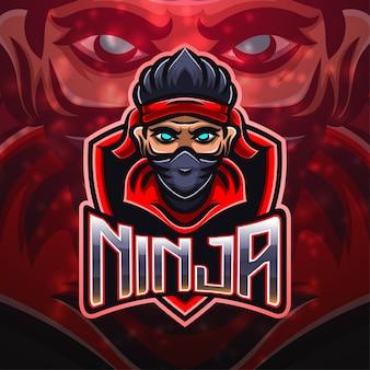 Création de logo de mascotte de sport ninja
