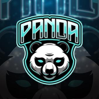 Création de logo de mascotte de sport panda