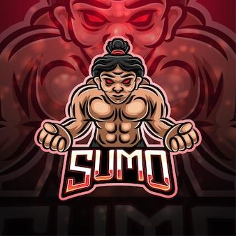 Création de logo de mascotte de sport sumo