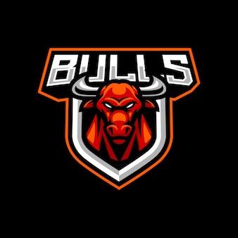 Création de logo de mascotte de taureaux