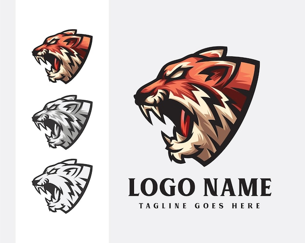 Création de logo de mascotte de tigre