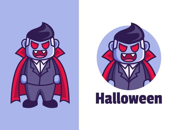 Création de logo mascotte vampire dracula