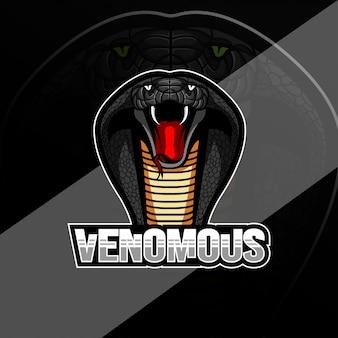 Création de logo de mascotte venimeuse