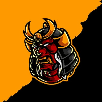 Création de logo de masque de samouraï oni