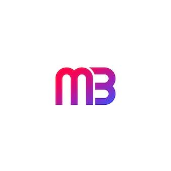 Création de logo mb, vecteur de monogramme